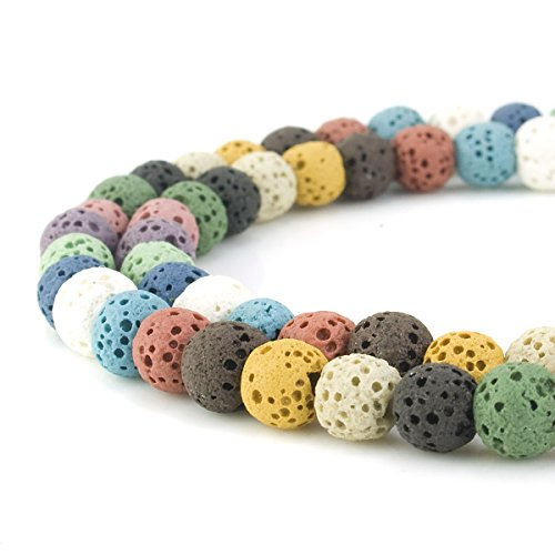 Beadnova 6-12mm Lava Rock Stone Gemstone Beads