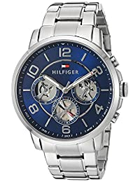 Tommy Hilfiger Men's Quartz Stainless Steel Automatic Watch, Color: Silver-Toned (Model: 1791293)