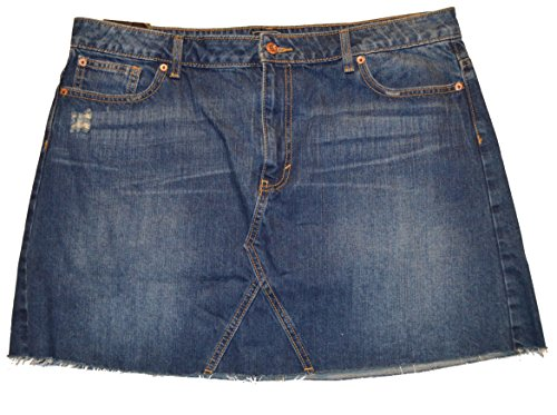 GAP Factory Womens Blue Denim Vintage Destructed Raw Hem Mini Skirt (Gap Ladies Clothes)