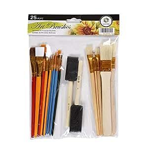 Paint Brush Set CONDA Starter Kit 25-piece Assorted Sizes A10844