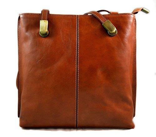 Ladies handbag leather bag clutch backpack crossbody women bag made in Italy honey