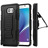 DWay Galaxy S6 Edge Plus Armor Case with Stand Feature and Swivel Belt Clip TPU + PC Detachable 3 In 1 Combo Protective Hard Shell Cover Case for Samsung Galaxy S6 Edge Plus / S6 Edge+ Black