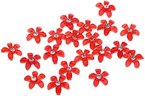 アクセサリートップ 桜チャーム 花形 ボタン アクセサリー ピアスバーツ 約20個入り 全10カラー - ロイヤルブルー