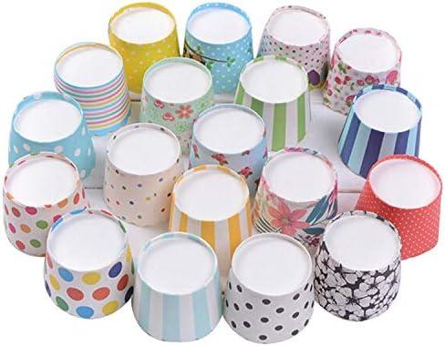 Gabkey 100pcs Random Colorful Premium Greaseproof Cupcake Paper Liners