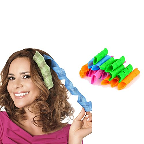 Caldor Styling No Heat Hair Curlers for the Perfect Hair Waves, Blue/Yellow/Pink/Green, 60 Piece, Pack of 3