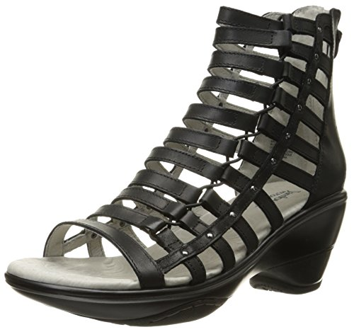 Jambu Women's Brookline Wedge Pump, Black, 6.5 M US by Jambu