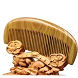 1pcs Thickened Sessile Sandalwood Comb Hand Polished Hair Tools...