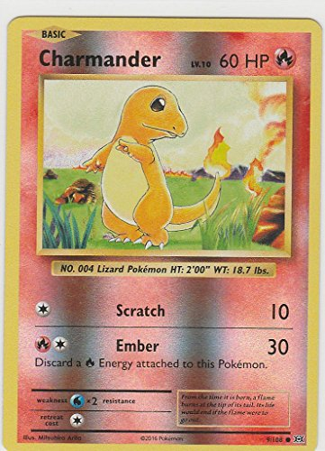 108 Common Pokemon Card - Pokemon TGC: XY Evolution Set Reverse Holo Charmander COMMON 9/108
