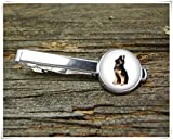 Fashion cool jewelry German Shepherd Tie Clip,Dog Tie Clip,Cute Dog Tie Clip,Man Gift,Dome Glass Ornaments, Pure Hand-Made