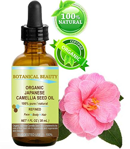 Japanese ORGANIC CAMELLIA Seed Oil. 100% Pure / Natural / Undiluted / Refined / Cold Pressed Carrier Oil. Rich antioxidant to revitalize and rejuvenate the hair, skin and nails. 1 Fl.oz-30 ml. Botanical Beauty