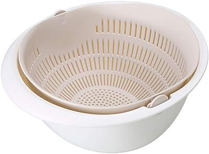 2 in 1 Drain Basin Basket kitchen Colander Mixing Strainer and Bowl Set Colander