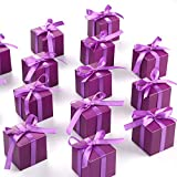 AWELL Purple Gift Candy Box Bulk 2x2x2 inches with