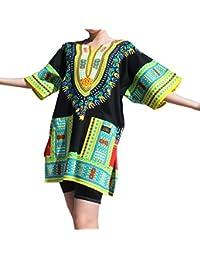 RaanPahMuang Branded Dashiki Short Mini Dress Summer Long Cut Shirt African Blacks