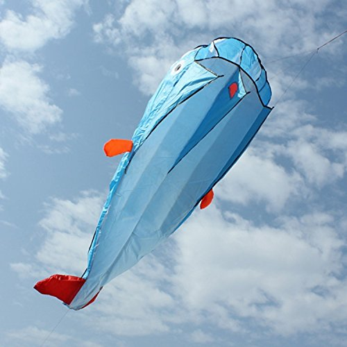 3d Huge Soft Parafoil Giant Dolphin Blue Kite Outdoor Sport Easy To Fly Frameless Flying Toys Designed With Software, It Is Beautiful And - Software Camera For Sunglasses