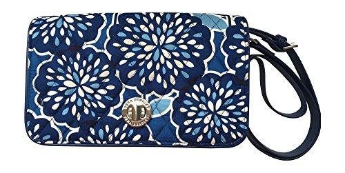 Vera Bradley Women's Turnlock Crossbody Handbag (Petal Splash)