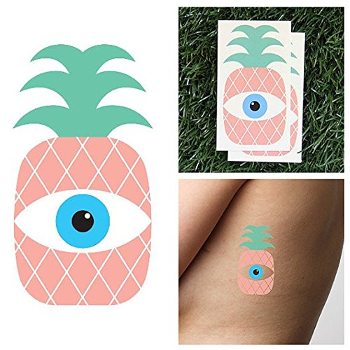 Tatuaje Temporal Tattify - Piña - Piñojos (Juego de 2): Amazon.es ...