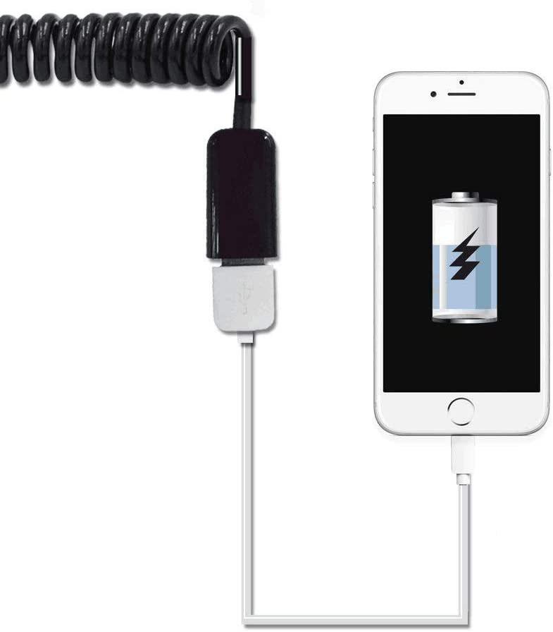 Coiled USB 2.0 Charger Cable 3ft Type A Male to Mini B Cord for Android Mobile Phone,MP3,Camera