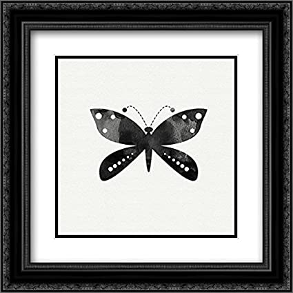 Amazon.com: Black and White Butterfly IV 2x Matted 20x20 Black ...
