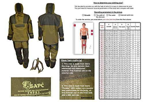 Bars GORKA-4 Genuine Russian Army Special Military BDU Uniform Camo Hunting Suit - Gorka4-54/4