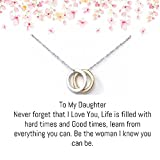 OnePurposeGifts to My Daughter Gifts Daughter Birthday Gifts Sweet 16 Gifts Graduation Gift Gifts for her (Gold/Silver)