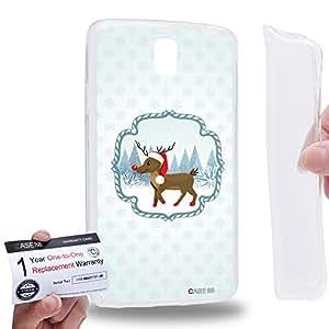 Case88 [Samsung Galaxy Note 3 Neo N750 N7505] Gel TPU Carcasa/Funda & Tarjeta de garantía - Art Navidad Classics Navidad Rudolph