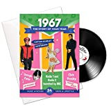 1967 Birthday or Anniversary Gifts - 1967 4-In-1 Card and Gift For Men and For Women
