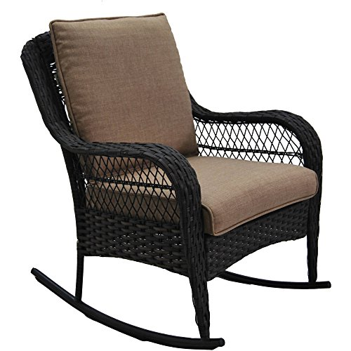 Better Homes and Gardens Colebrook Rocking Chair (Tan) (Outside Chair Cushions Sales)