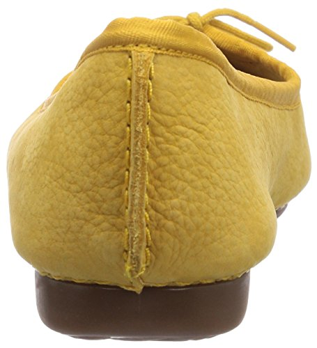 Clarks Women's Freckle Ice Ballet Flats Yellow (Honey Nubuck) c6yhpK