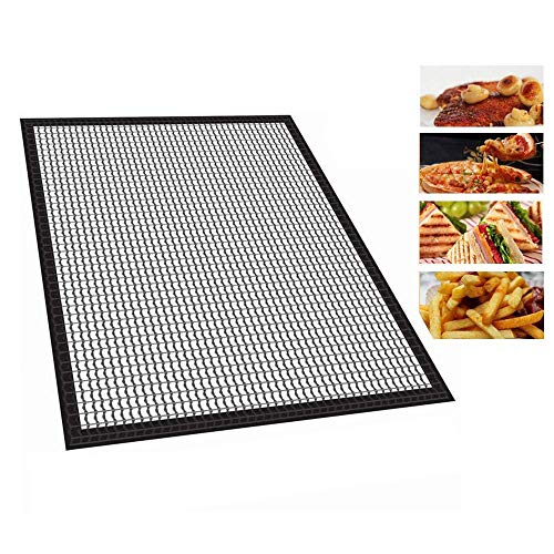 vinmax BBQ Grill Mesh Mat, 2 Pack Non-Stick Cooking Reusable Mats BBQ Tool for Fish and Vegetable