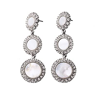 8ca57b912 Buy TBOP EARRING Retro Alloy Accessories Factory Outlet Ms. Long Diamond  Stud Earrings 6.4cm*2.2cm in white gold color for women Online at Low  Prices in ...