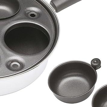 in acciaio rivestito di alluminio Kitchen Craft Pentolino per uova in camicia
