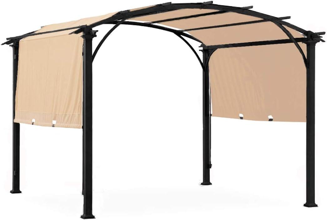 Garden Winds LCM1381B-RS Verano Pergola Riplock 350 Replacement Canopy, Beige