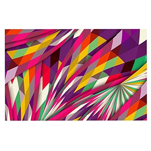 Kess InHouse Danny Ivan Sweet Multicolor Geometric Decorative Door 2 x 3 Floor Mat
