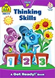 School Zone - Thinking Skills Workbook, Preschool, Ages 3 to 5, Observation, Concentration, Problem-Solving, Following Directions, Logic, Illustrations, and More