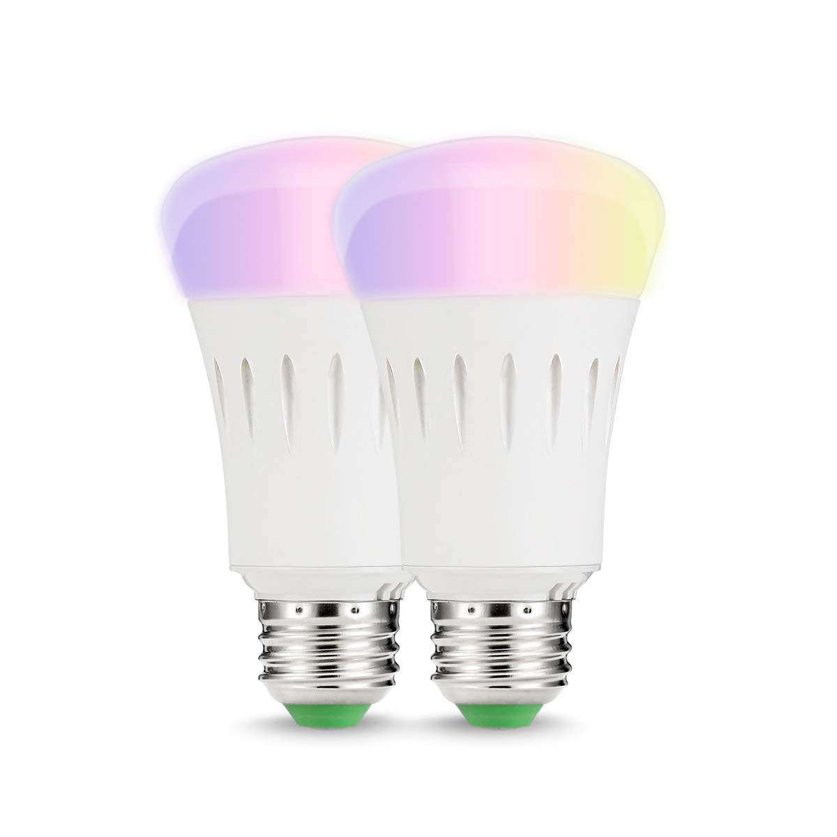 LOHAS Alexa Smart LED WiFi Bulbs, 9W A60 E27 Colour Changing Light Bulb, Works with  Alexa, Google Home & IFTTT, 60W Equivalent, Remote Controlled, 2 Pack