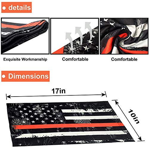 5 Pack American Flag Face Scarf Cover Mask,Sun UV Dust Protection Balaclava Headband for Motorcycle Cycling Fishing Running Outdoor Sport