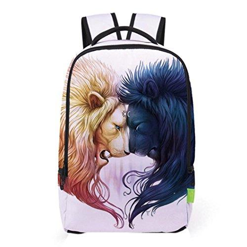 Fabal Women Men 3D Galaxy Travel Satchel Backpack Rucksack Shoulder Bookbag School Bag - Bag D&g Man