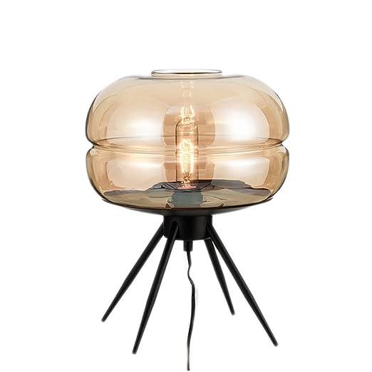 YC electronics Lámparas de Escritorio Simple Nordic Creative Glass ...