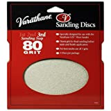 Rust-Oleum 203938 Varathane 80 Grit Sand Discs for EZV Floor Finish Sanders, 3-Pack