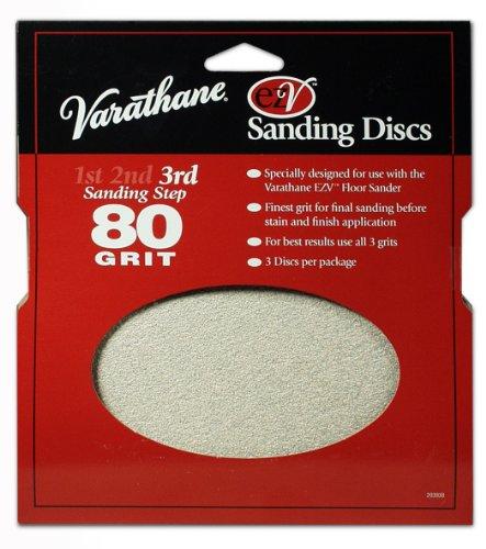 Rust-Oleum 203938 Varathane 80 Grit Sand Discs for EZV Floor Finish Sanders, - Discs Ezv Sanding