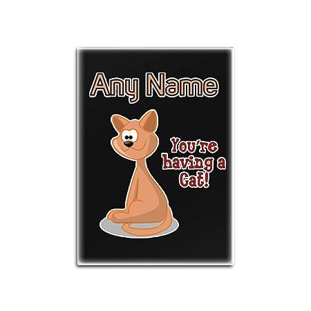 UNIGIFT Imán para Nevera con diseño de Gato, Personalizable ...