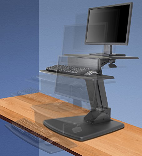 Kantek Desktop Sit to Stand Workstation, Black (STS810) by Kantek (Image #3)