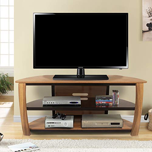 Maple Tv Corner Stand (Living Essential Norwalk Corner TV Stand, 55