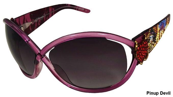 Ehs 048 Devil Ed Hardy Pinup Designer Sunglasses Women's wXnOP80kN