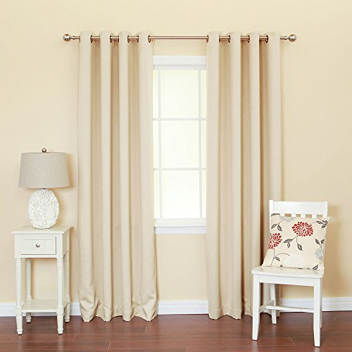 """Best Home Fashion Thermal Insulated Blackout Curtains - Antique Bronze Grommet Top - 52""""W x 84""""L - (Set of 2 Panels)"""