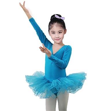 75a282f82 Brightup Girls' Classic Long Sleeve Tutu Dress Leotard,Kids Tutu Tulle  Ballet Gymnastics Leotard Dress,Children Dancewear: Amazon.co.uk: Clothing