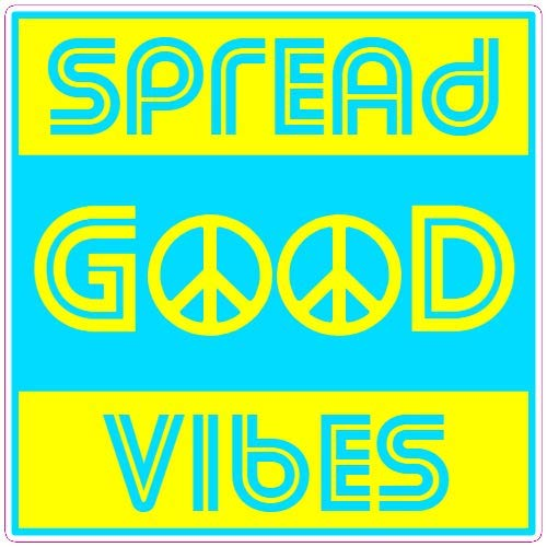 U.S. Custom Stickers Spread Good Vibes Peace Sticker, ()