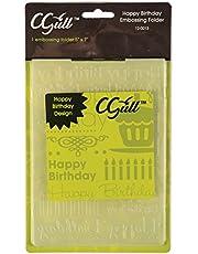 C-Gull Embossing Happy Birthday Folder, 5x7-Inch