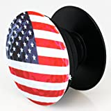 Expanding Stand And Grip Mount For Smartphones And Tablets Cell Phone Holder (Iphone 6 6s 7 7S, Samsung Galaxy, Tablets, Fire) Golf Ball with American Flag