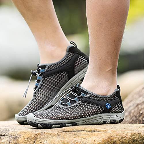 B Exing traspiranti 42 UN Lace Dimensione Scarpe up Sneakers da Shoes da Colore Lovers Summer viaggio donna Outdoor Scarpe antiscivolo Mesh RXwqrRHxf